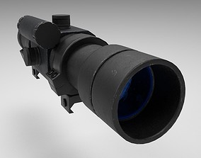 3D model Rifle Scope - Sight - Weapon Attachment - PBR