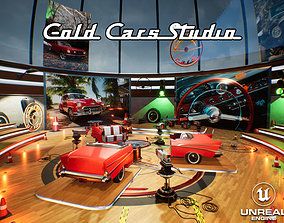 Gold Cars TV Studio Unreal 3D asset