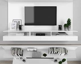 Tv stand 3D asset animated