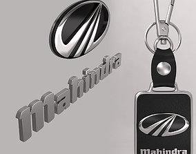 Mahindra car logo keychain 3d model