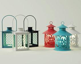 3D model Coloured lanterns and tealightholders