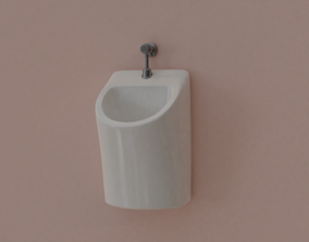 Urinal 3D model tap