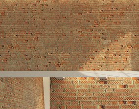 3D model Brick wall Old brick 2