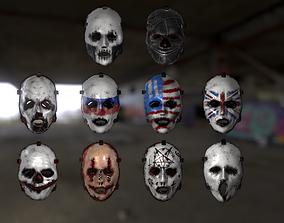 3D asset Horror Masks Pack Bundle
