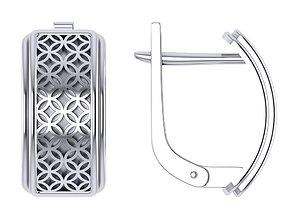 3D print model geometric earrings