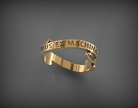 3D print model Ring DEUS EX MACHINA