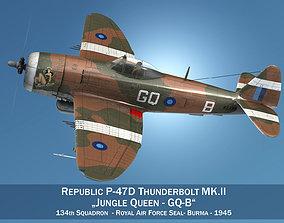 Republic P-47D Thunderbolt MK II - Jungle Queen 3D