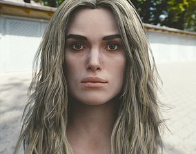 3d model Keira Knightley head V2 VR / AR ready