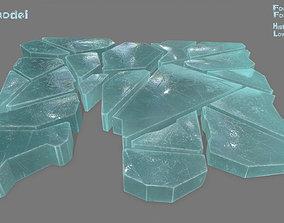 3D asset VR / AR ready ice set