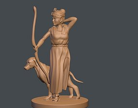 3D print model The Goddess of ARTEMIS and dog