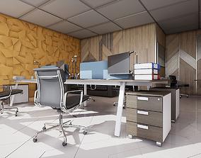 3D asset HQ Modern Office