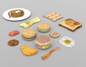 Breakfast Foods for DAZ Studio 3D