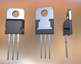 3D model game-ready Transistor