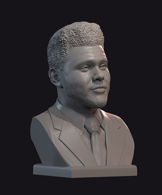 The Weeknd bust 1