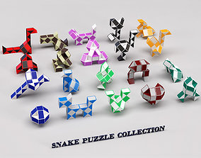 Snake puzzle collection 3D model