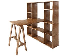 Sideboard Wood furniture model realtime