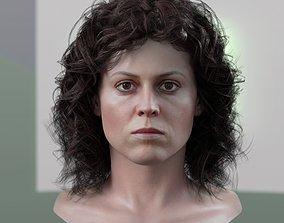 3d model Sigourney Weaver Ellen Ripley realtime
