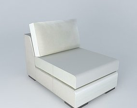 TERENCE white leather fireside 3D