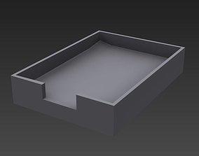 Office Paper Tray 3D asset