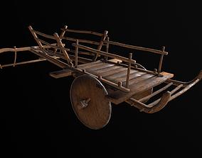 Ox Cart 3D asset