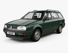 3D model Volkswagen Golf Variant 1993