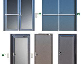 ecape 3D Metal fire doors