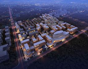 3D Urban commercial center planning