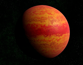 3D model Red gas giant 1
