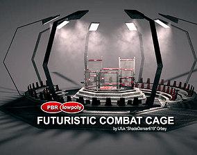 3D model Futuristic MMA Combat Cage