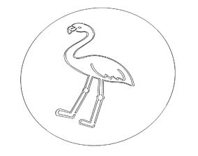 Flamingo Stencil 3D printable model