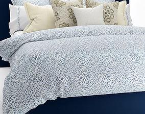 Bedclothes blue 3D model