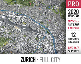 Zurich - city and surroundings 3D model
