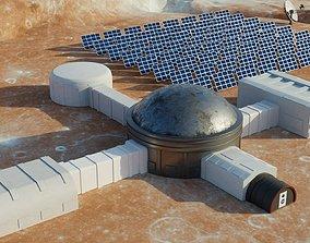 Martian base 3D model realtime