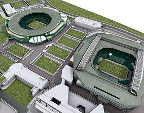 Wimbledon Tennis Club - London 3D model