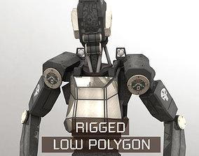 Sentinel Bot LP Rigged 3D asset