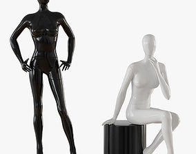 Abstract female mannequin 3D model