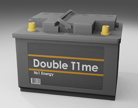 game-ready FREE LOW POLY Car Battery 3D model