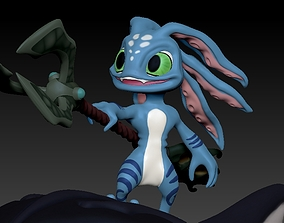 3D print model fizz and chompers LOL