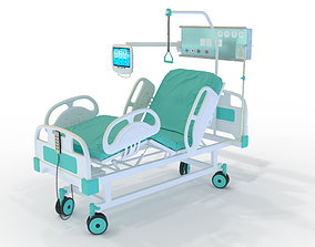 3D model Medical bed with lifting mechanism