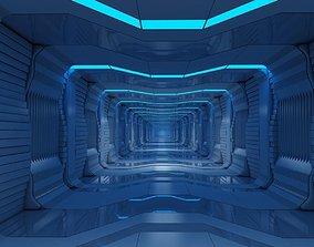 Futuristic Tunnel Animated 3D