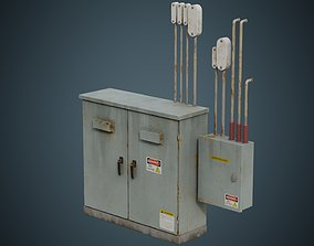 Utility Box 4B 3D asset