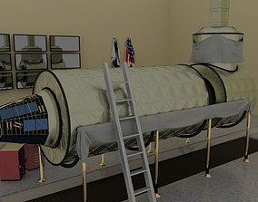 3D Destiny ISS module in a museum