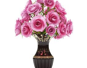 3D model pink roses
