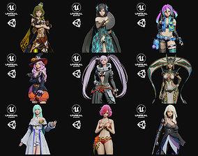 Girls Pack Bundle 2 3D model
