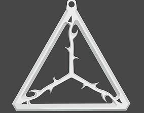 The silver pendant 3d print master model