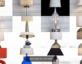 table lamps set 3D incandescent