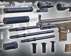 3DRT - FN SCAR assault rifle fnscar animated