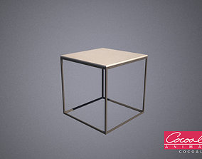 Squared Metal Ottoman 3D model