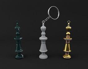 Chess Queen Keychain Model