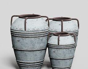 Decorative Vases in Distressed 3D model